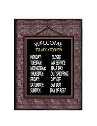 Items Similar To Welcome My Kitchen Wall Plaque X Wood Funny Gifts Decor Quotes Hanging Sign On Etsy