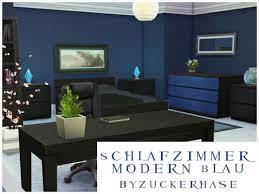 schlafzimmer modern in blau