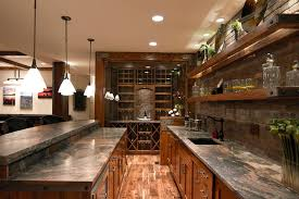 Bar Shelving Ideas Home Traditional With Wet Pendant Lighting
