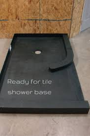 bathroom tile ready shower pan with clawfoot tub shower kit