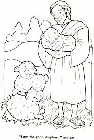 Good Shepherd And Lost Sheep Parable Coloring Pages Inside The Page