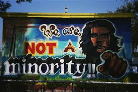 we are not a minority mural
