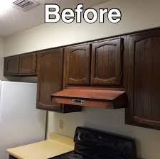 Contemporary Gray Shaker Cabinets Transform 1980s Oak Kitchen
