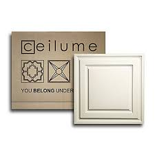 Ceilume Ceiling Tiles Montreal by Ceilume 10 Pack Stratford Sand Feather Light 2 Feet X 2 Feet Lay