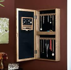 Mirrored Jewelry Box Armoire by Wall Ideas Wall Mount Jewelry Armoire White Wall Mounted Jewelry