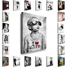 leinwand bilder kunstdruck banksy streetart wandbilder