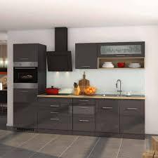 einbauküche küchenmöbel set e geräte bozenia in hochglanz grau 11 teilig