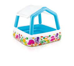 Image Is Loading Intex Sun Shade Pool Kiddie Wading Toddler