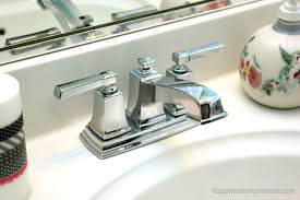 how to update change a bathroom faucet happiness is homemade