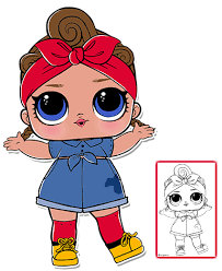 385x470 Can Do Baby Series 3 LOL Surprise Doll Coloring Page Lol