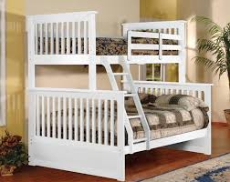 white full over full bunk beds with stairs — Modern Storage Twin