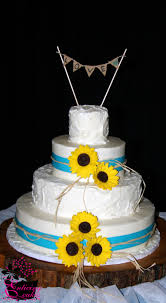 Sunflower Wedding Cakes Best Of Rustic Cake Peach Pinterest