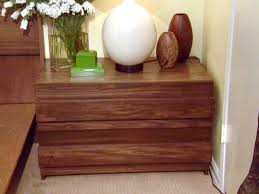how to build a contemporary style bedside table hgtv