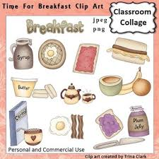 Time For Breakfast Foods Clip Art