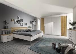 schlafzimmer set girona in lack weiss balkeneiche furniert