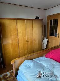 schlafzimmer komplett 50er retro hochglanz bett schrank