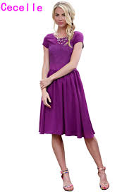 online get cheap modest purple dresses aliexpress com alibaba group