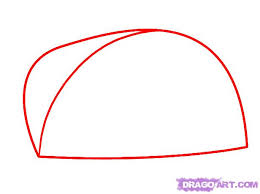 how to draw a taco step 1