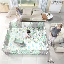 freies installation faltbare laufstall indoor hause amusement park baby kleinkind sicherheit zaun mit kriechende matte kinder spielen zaun