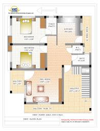 Awesome Image Of 2bhk Home Design In With Simple House Plans Bathroom Collection Images Small 2 Bedroom Decoration Gallery