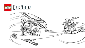 LEGOR Juniors Spider ManTM Helicopter Coloring Page