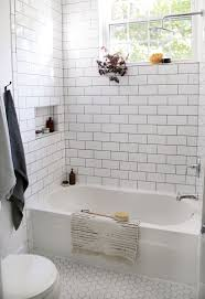 Beautiful Farmhouse Bathroom Remodel From Small Closet | Grey Grout ... Beautiful Ways To Use Tile In Your Bathroom A Classic White Subway Designed By Our Teenage Son Glass Vintage Subway Tiles 20 Contemporary Bathroom Design Ideas Rilane 9 Bold Designs Hgtvs Decorating Design Blog Hgtv Rhrabatcom Tile Shower Designs Vintage Ideas Creative Decoration Shower For Each And Every Taste 25 Small 69 Master Remodel With 1 Large Mosiac Pan Niche House Remodel Modern Meets Traditional Styled Decorating