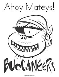 Ahoy Mateys Coloring Page