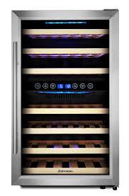 kalamera weinkühlschrank freistehend 45 flaschen 120 liter 2 zonen kompressor