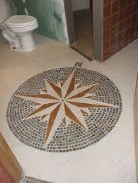post with lots of pictures of the vintage 1940s mosaic tile