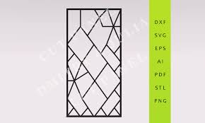 orthos privacy screen dxf svg eps ready to cut file cnc