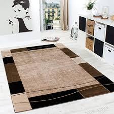 paco home designer teppich wohnzimmer teppich modern bordüre in braun beige preishammer grösse 160x220 cm