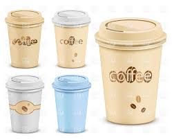 Paper Coffee Cup With Lid Vector Image Artwork Of Food And Beverages C Frbird Click To Zoom