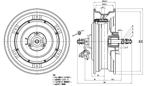 Drawing Of 12inch Scooter Motor
