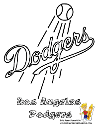 Los Angeles Dodgers Coloring
