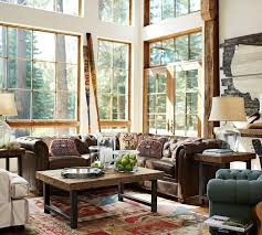 Pottery Barn Turner Grand Sofa by Turner Leather Roll Arm Sofa Pottery Barn Grey Walls And Mirror