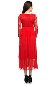 blood red cutwork gown by rib for rent online rent it bae