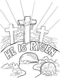 Coloring Pages For Kids By Mr Adron Easter Page Cross