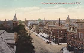 AMHERST Nova Scotia Canada Victoria Street from Post fice PU 1913 Amherst Nova Scotia Pinterest