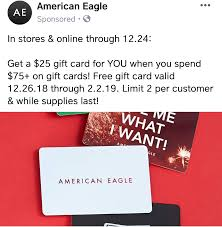 American Eagle Free $25 Gift Card With Purchase Of $75 Gift ... 25 Off Staples Coupon Codes Black Friday Deals Coupon Take 20 Off Online Orders Of 75 Clark Stateline Jeep Coupons Ubereats 50 Promo Code Chennai Hit E Cigs Racing The Planet Discount Coupons Code Promo Up To Dec19 Wayfair 10 First Time Order Expires 113019 Staples Coupon 15 Liphone Order Expires 497 1 Mimeqiv3559562497chtm Definitive Materials Hp Instant Ink Ncours Natrel