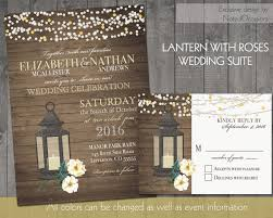 Rustic Wood Wedding Invitations Lantern Wedding Spring Summer