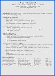Resume Summary For Students Professional Examples Graduate Letter ...