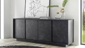 sideboard carrara marmor optik und anthrazit kommode