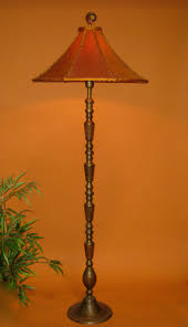 Swarovski Crystal Lamp Finials by Sold Vintage Asian Floor Lamp Handmade Lamp Shade Orange