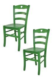 t m c s tommychairs 2er set stühle cuore für küche und esszimmer robuste struktur aus buchenholz in anilinfarbe grün lackiert und sitzfläche aus
