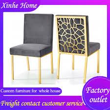moderne blau grau samt esszimmer stuhl luxus vintage wohnzimmer möbel gold silber metall bein home restaurant