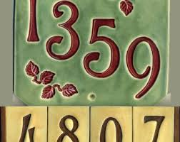 Mexican Tile House Numbers With Frame by Ceramic House Number Etsy