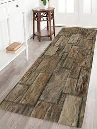 Vintage Stone Floor Pattern Indoor Outdoor Area Rug