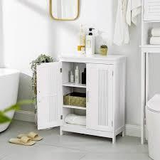 vasagle badkommode bbc52wt badschrank mit 2 türen 60 x 30 x 80 cm weiß kaufen otto