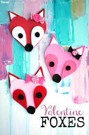 Fun And Easy Valentines Day Kids Crafts Simple Pink Love Red Valentine Foxes Live Craft Paper