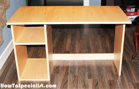 diy simple computer desk howtospecialist how to build step by